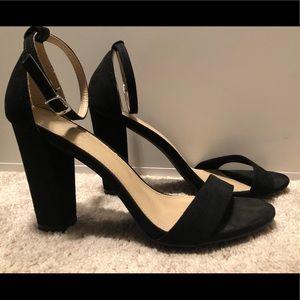Black Block Heels Size 11